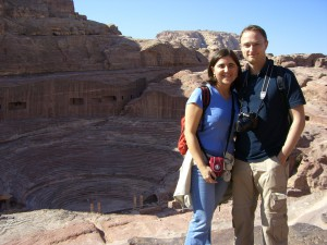 Claudia und Mathias in Petra
