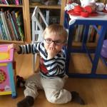 Lucas David im Spielzimmer