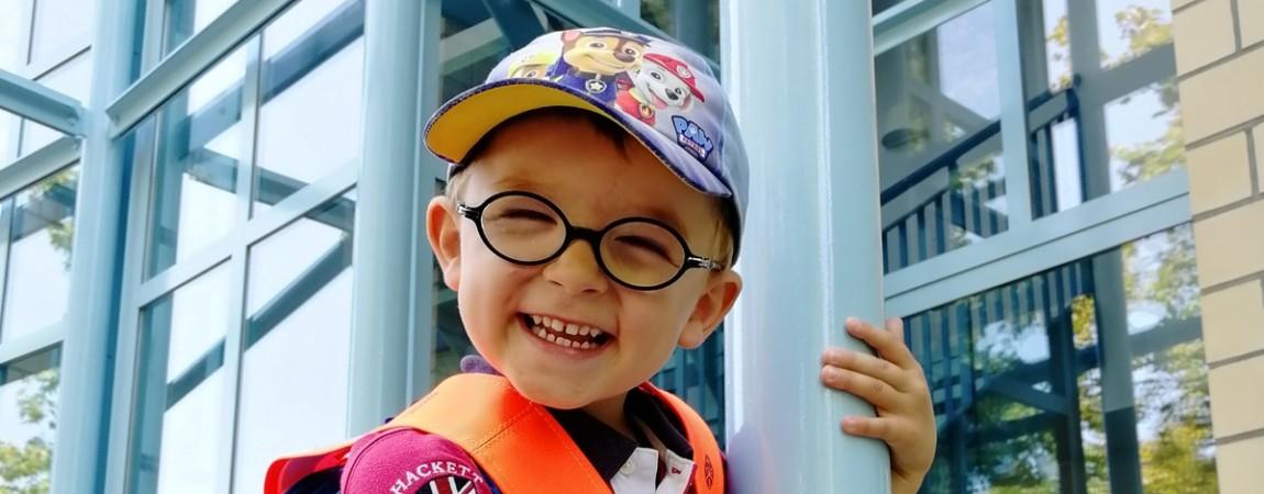 Lucas erster Tag im Kindergarten